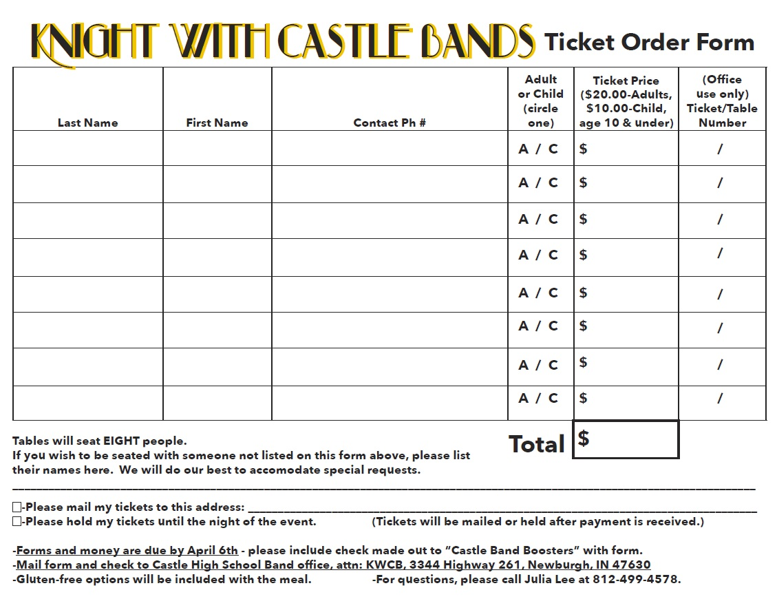 2018 knight with castle bands castle high school bands
